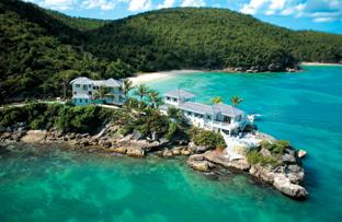 Aerial View of the Rock Cottage at Blue Waters Resort in Antigua