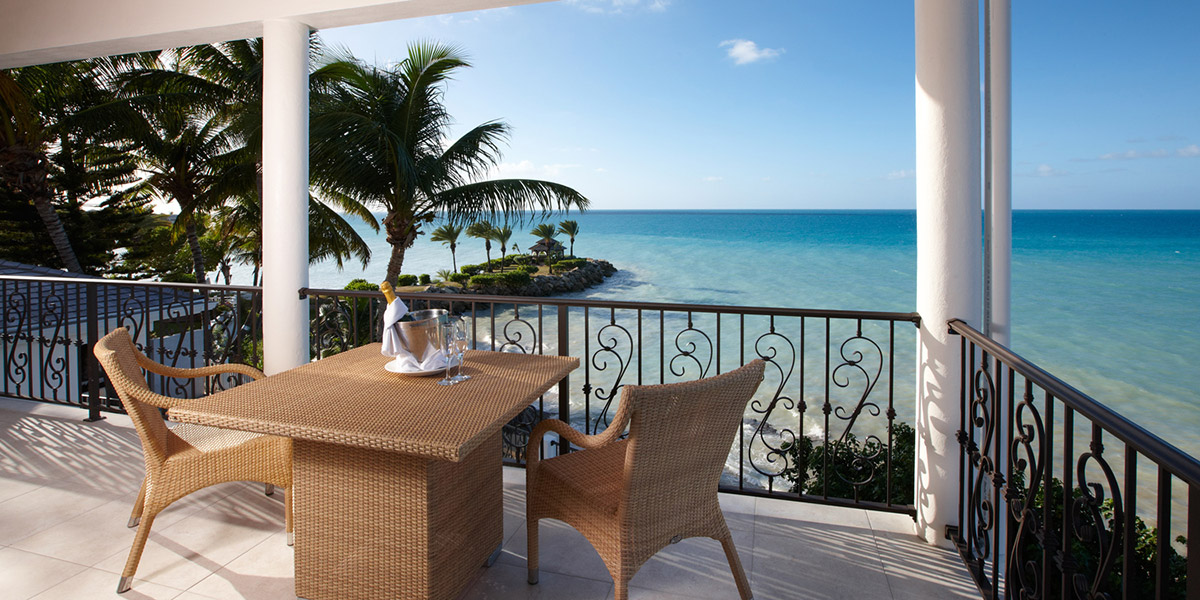 Terrace of Turtle Cottage at Blue Waters Resort, Antigua