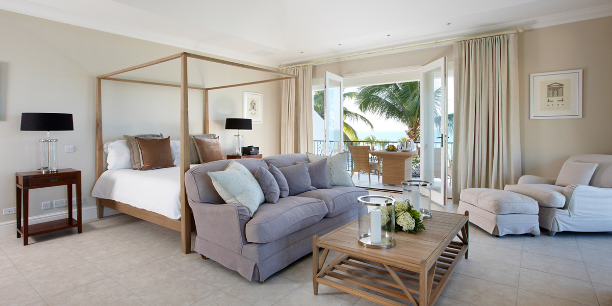 Bedroom in Turtle Cottage at Blue Waters Resort, Antigua