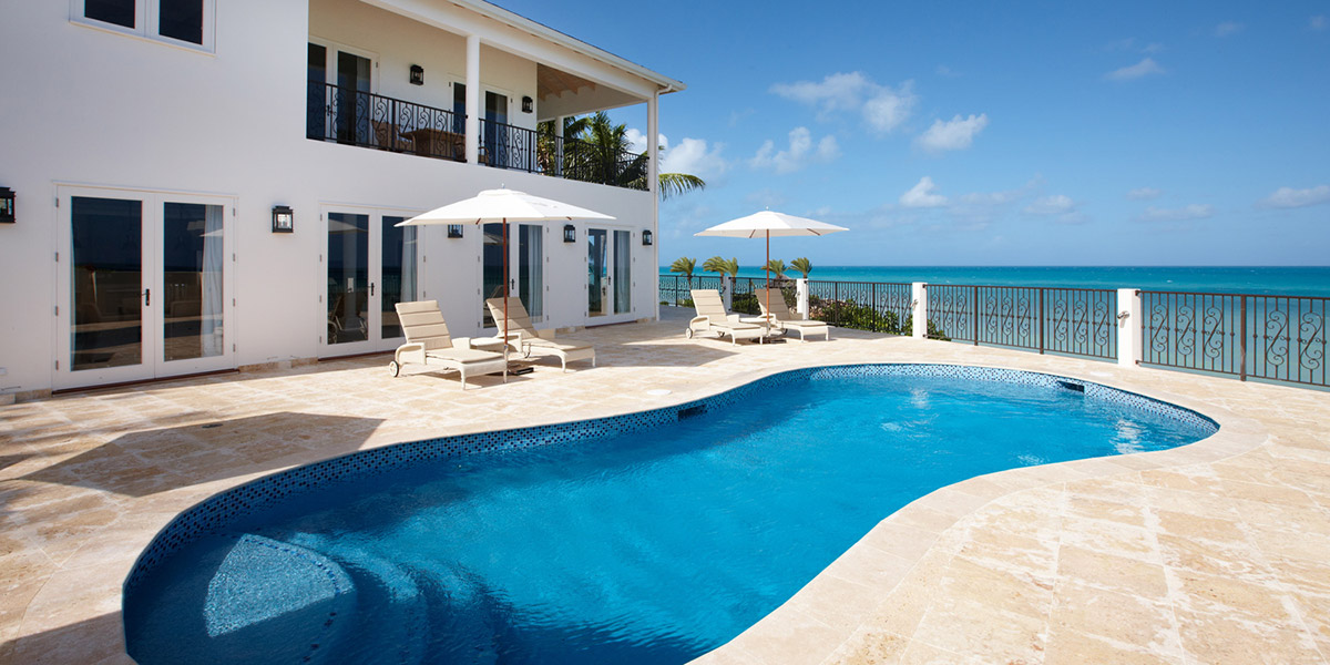 Pool & Exterior of Turtle Cottage at Blue Waters Resort, Antigua