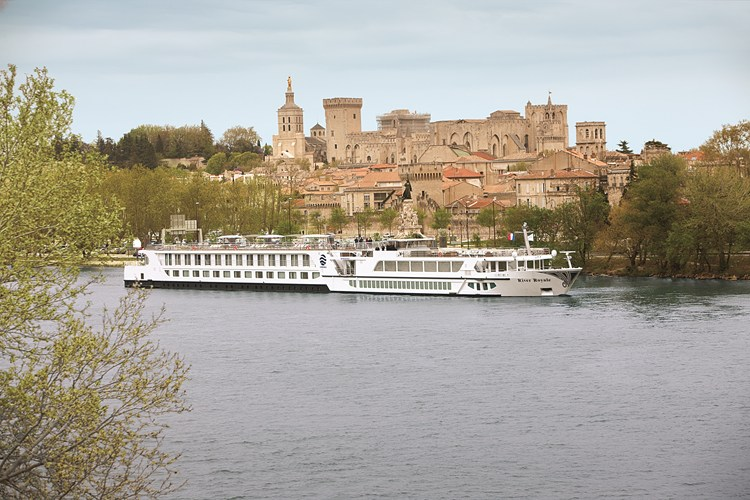 Uniworld River Cruises' River Royale in Avignon, France