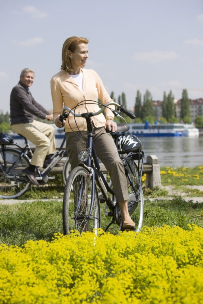 Touring on Bikes Provided Complimentary by Uniworld River Cruises