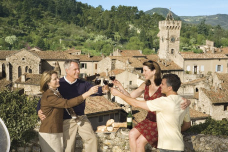 Uniworld Passengers Enjoying Wine Tasting in Europe