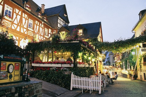 Dining in Rudesheim